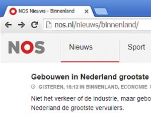 screenshot NOS site