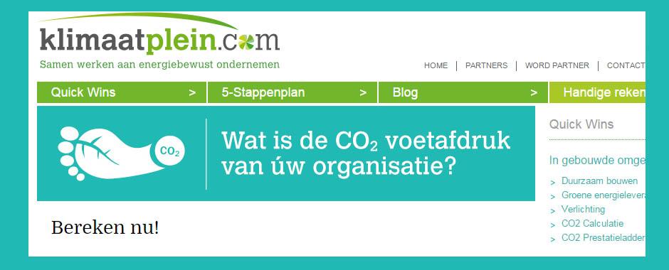Snel inzicht in CO2 gebruik met handige Web App