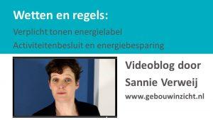 Sannie Verweij Videoblog