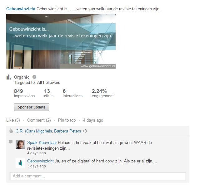 LinkedIn Gebouwinzicht is Tekeningen