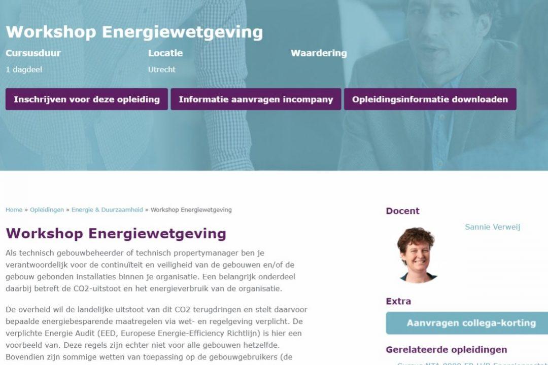 workshop energiewetgeving